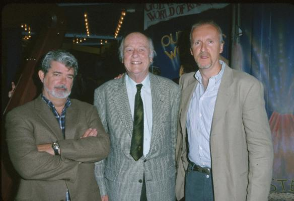 James Cameron, George Lucas, and Johnny Grant