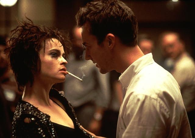 Helena Bonham Carter and Edward Norton in Fight Club (1999)