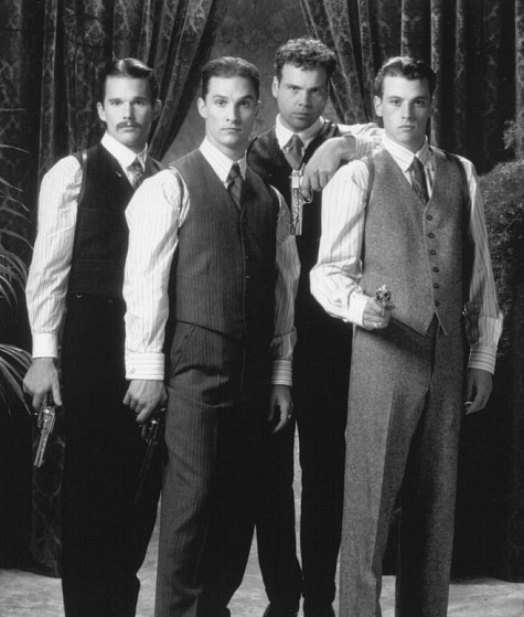 Ethan Hawke, Matthew McConaughey, Skeet Ulrich, and Vincent D'Onofrio in The Newton Boys (1998)