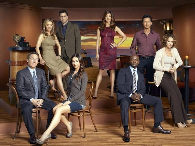 Amy Brenneman, Brian Benben, Benjamin Bratt, Taye Diggs, Kate Walsh, Paul Adelstein, Caterina Scorsone, and KaDee Strickland in Private Practice (2007)