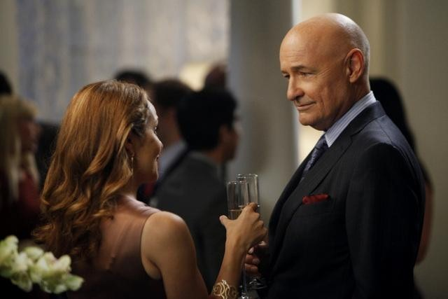 Mili Avital and Terry O'Quinn in 666 Park Avenue (2012)