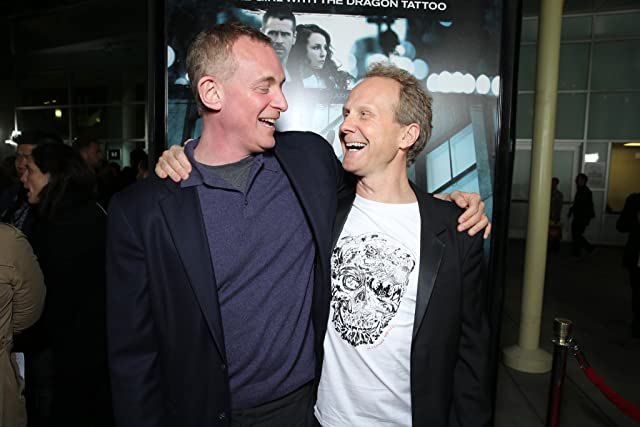 Niels Arden Oplev and Peter Schlessel at an event for Dead Man Down (2013)