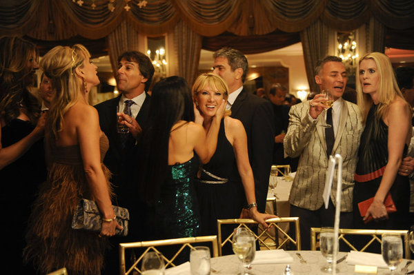 Alex McCord, Sonja Morgan, and Ramona Singer in The Real Housewives of New York City (2008)