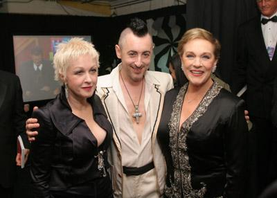 Julie Andrews, Alan Cumming, and Cyndi Lauper