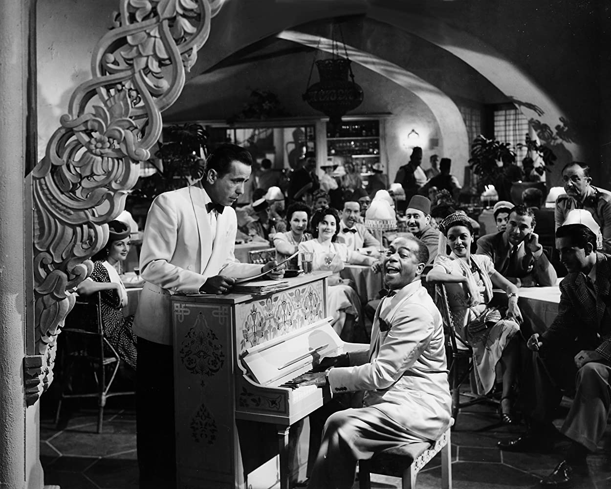 Humphrey Bogart and Dooley Wilson in Casablanca (1942)