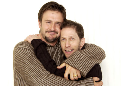 David Arquette and Tim Blake Nelson at an event for A Foreign Affair (2003)