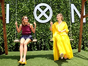 Aubrey Plaza and Rachel Keller at an event for Legion (2017)