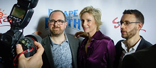Cal Brunker, Jane Lynch, and Bob Barlen at the Hollywood premiere of Escape From Planet Earth