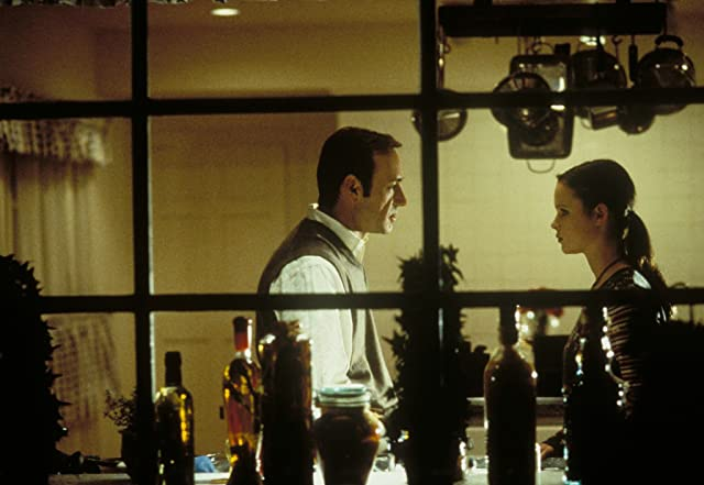 Kevin Spacey and Thora Birch in American Beauty (1999)