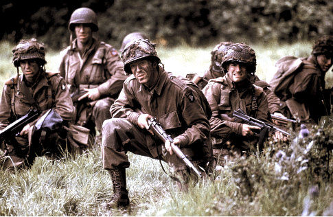 Damian Lewis in Band of Brothers (2001)