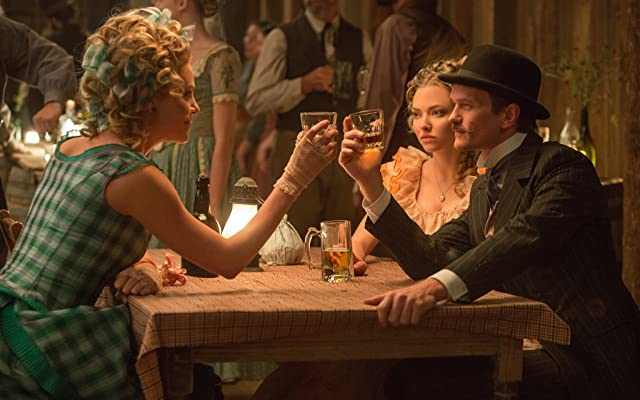 Charlize Theron, Neil Patrick Harris, and Amanda Seyfried in A Million Ways to Die in the West (2014)