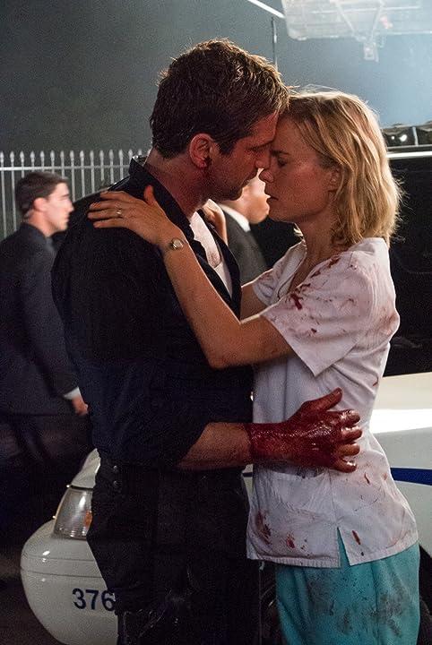 Gerard Butler and Radha Mitchell in Olympus Has Fallen (2013)