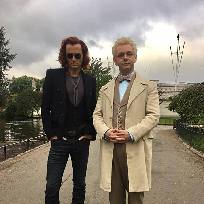 Michael Sheen and David Tennant in Good Omens (2018)