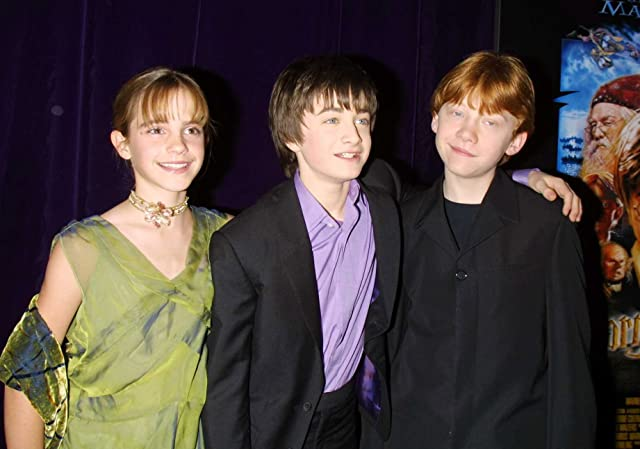 Rupert Grint, Daniel Radcliffe, and Emma Watson at an event for Harry Potter and the Sorcerer's Stone (2001)