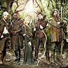 Joanne Froggatt, David Harewood, Gordon Kennedy, Sam Troughton, Joe Armstrong, and Jonas Armstrong in Robin Hood (2006)