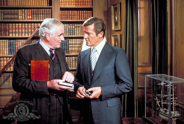 Roger Moore and Desmond Llewelyn in Moonraker (1979)