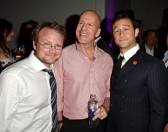 Bruce Willis, Joseph Gordon-Levitt, and Rian Johnson