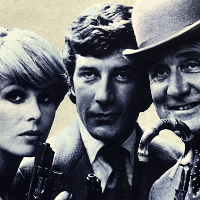 Patrick Macnee, Gareth Hunt, and Joanna Lumley in The New Avengers (1976)
