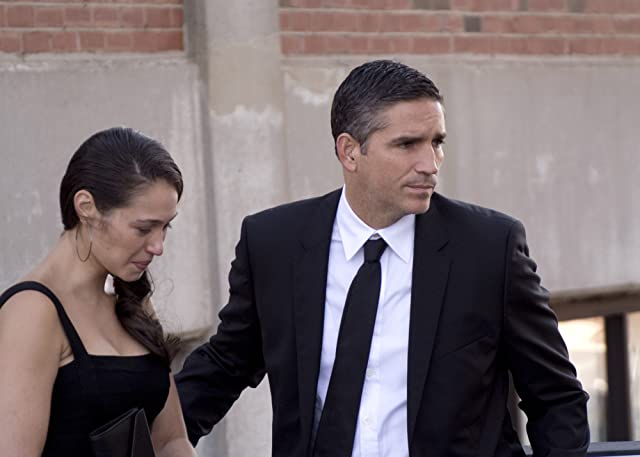 Jim Caviezel and Paloma Guzmán in Person of Interest (2011)