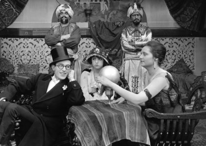 Harold Lloyd with Bebe Daniels and Rosemary Theby circa 1919