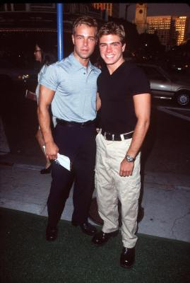 Joey Lawrence and Matthew Lawrence at Return to Paradise (1998)