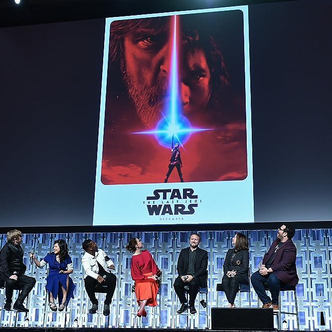Mark Hamill, Kathleen Kennedy, Rian Johnson, Josh Gad, John Boyega, Kelly Marie Tran, and Daisy Ridley at an event for Star Wars: The Last Jedi (2017)