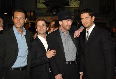 Gerard Butler, Frank Miller, Rodrigo Santoro, and Zack Snyder at 300 (2006)