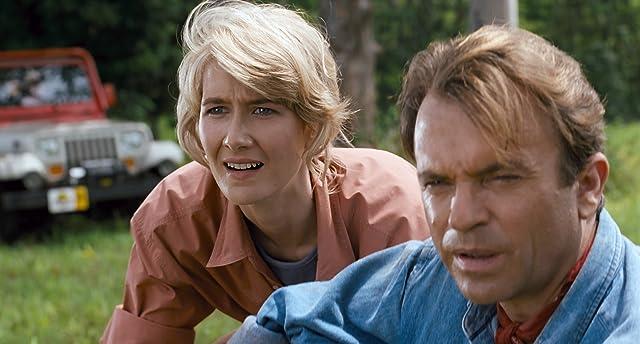 Laura Dern and Sam Neill in Jurassic Park (1993)