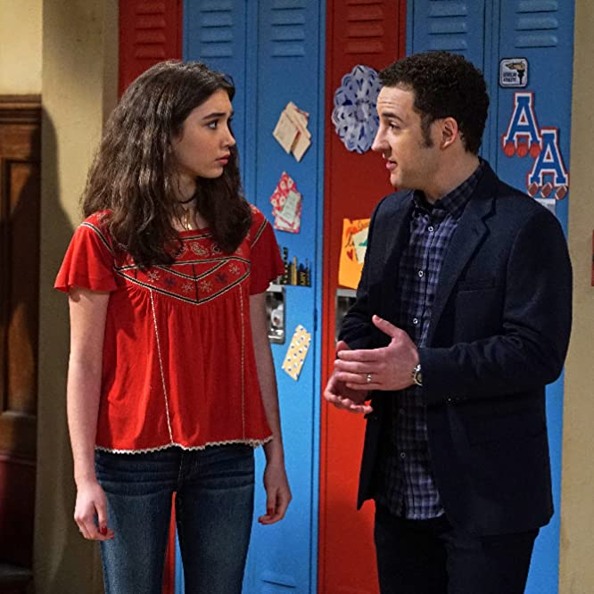 Ben Savage and Rowan Blanchard in Girl Meets World (2014)