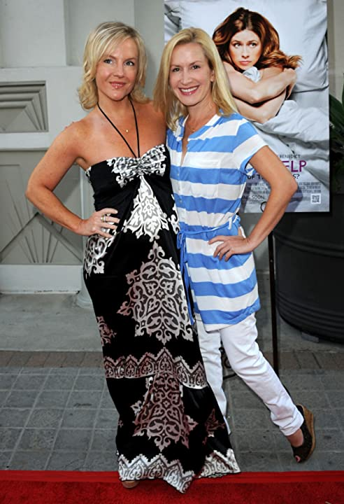 Rachael Harris and Angela Kinsey at A Little Help (2010)