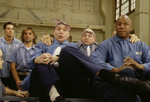 Mike Myers, Tommy 'Tiny' Lister, and Verne Troyer in Austin Powers in Goldmember (2002)