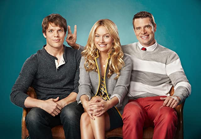 Still of Scott Foley, Becki Newton and Jake Lacy in Goodwin Games