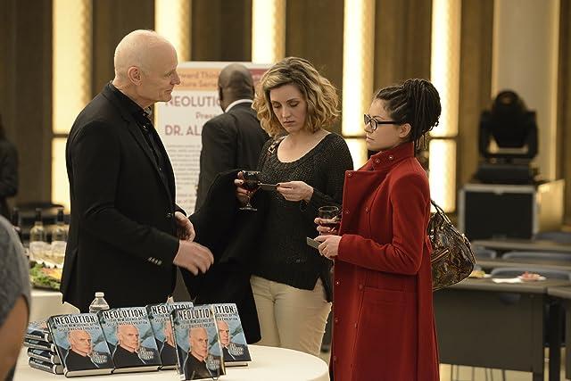 Matt Frewer, Tatiana Maslany, and Evelyne Brochu in Orphan Black (2013)