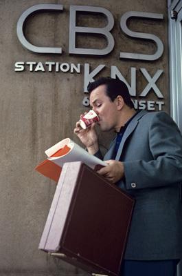 Bob Crane at CBS station KNX on Sunset
