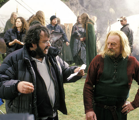Peter Jackson and Bernard Hill in The Lord of the Rings: The Return of the King (2003)