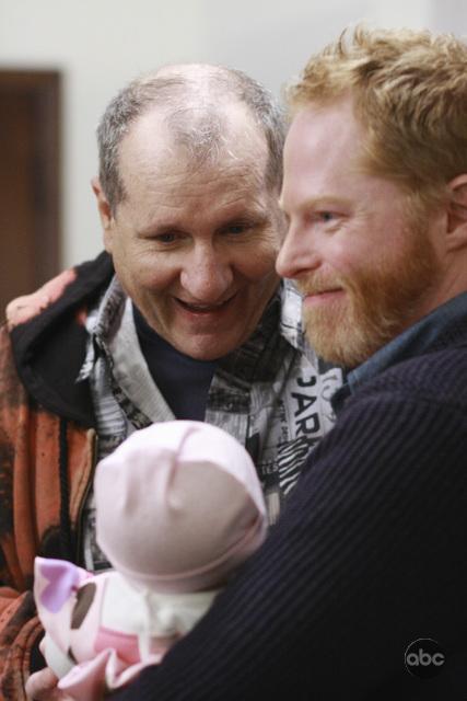 Jesse Tyler Ferguson and Ed O'Neill in Modern Family (2009)