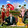 Swoosie Kurtz, Kristin Chenoweth, Anna Friel, Ellen Greene, Chi McBride, Lee Pace, and Justin Stephens in Pushing Daisies (2007)