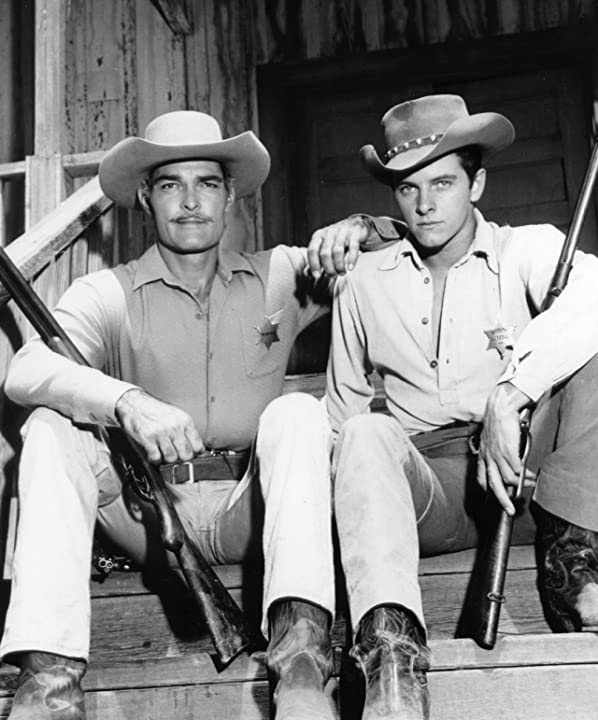 Peter Brown and John Russell in Lawman (1958)