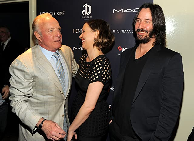 Keanu Reeves, James Caan, and Vera Farmiga at an event for Henry's Crime (2010)