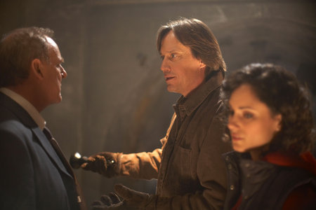 Peter MacNeill, Kevin Sorbo and Natalie Brown star in Something Beneath.