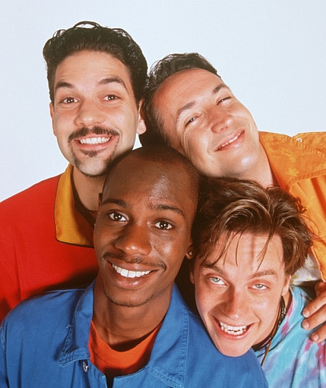 Harland Williams, Jim Breuer, Dave Chappelle, and Guillermo Díaz in Half Baked (1998)