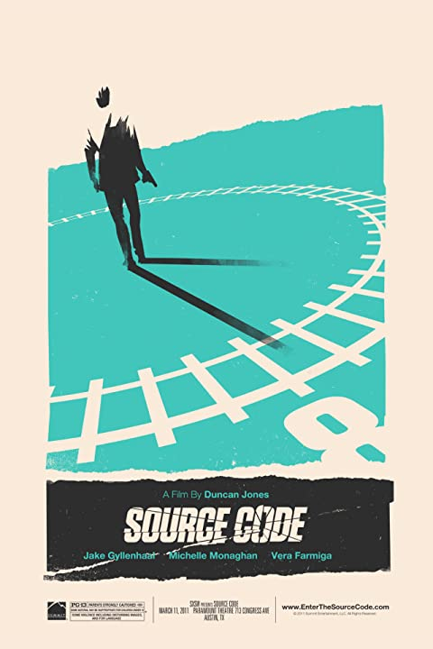 Alamo Drafthouse & Mondo present the Source Code SXSW poster from Olly Moss.