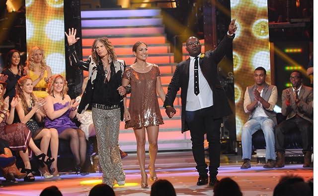 Jennifer Lopez, Steven Tyler, and Randy Jackson in American Idol (2002)