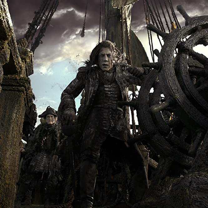 Javier Bardem, Nico Cortez, and Rupert Raineri in Pirates of the Caribbean: Dead Men Tell No Tales (2017)