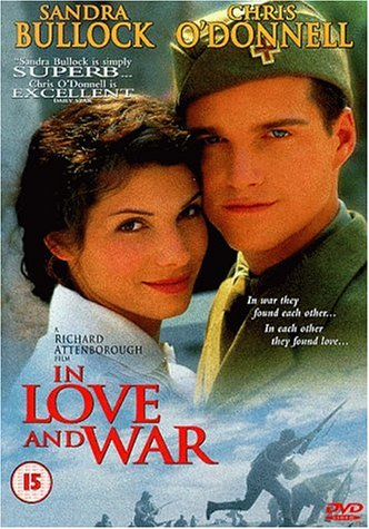 Sandra Bullock and Chris O'Donnell in In Love and War (1996)