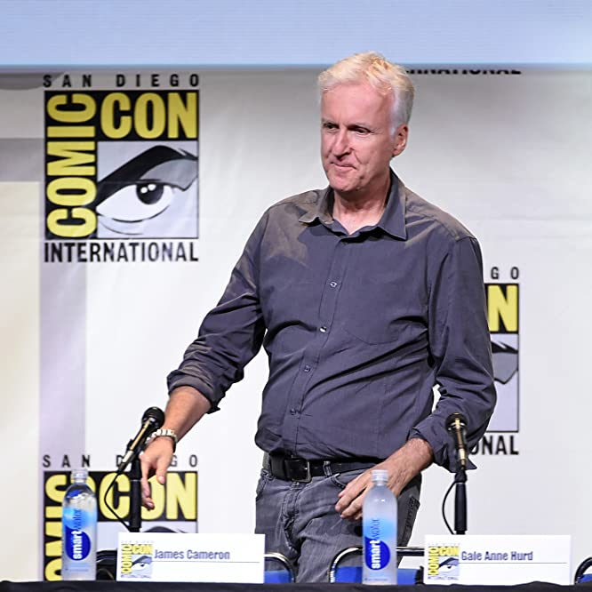 James Cameron at an event for Aliens (1986)