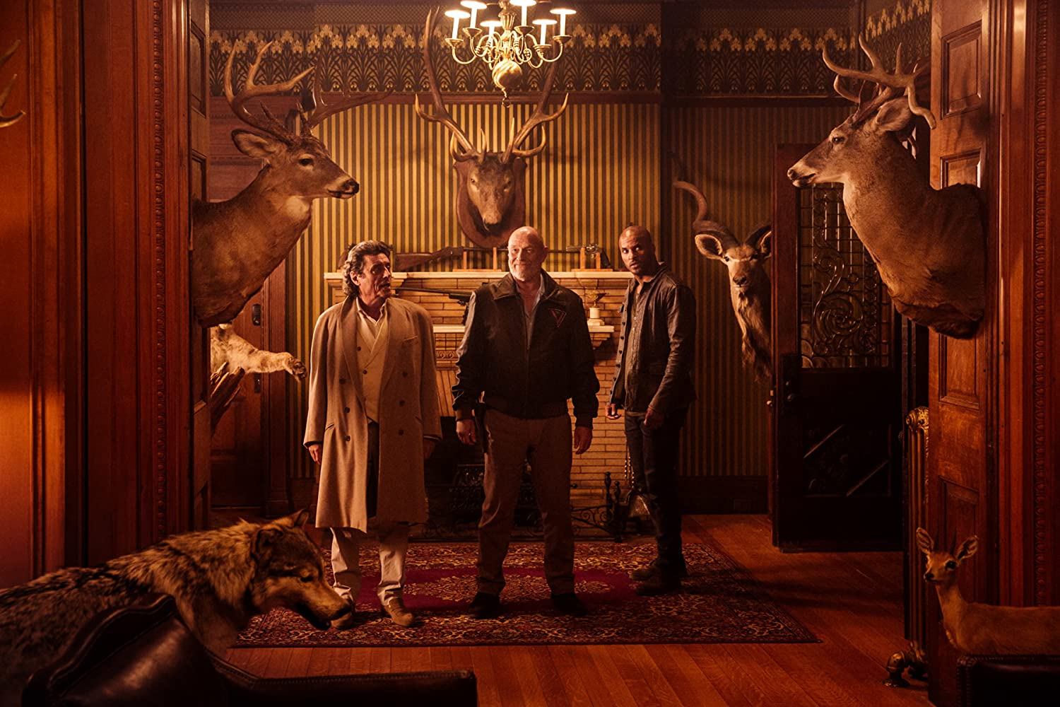 He uses antlers in all of his decorating American Gods