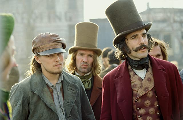 Leonardo DiCaprio and Daniel Day-Lewis in Gangs of New York (2002)
