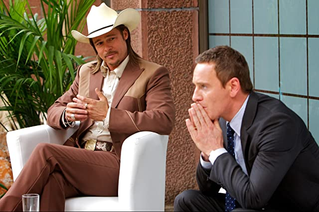 Brad Pitt and Michael Fassbender in The Counsellor (2013)