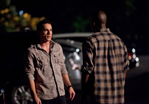 B.J. Britt and Michael Trevino in The Vampire Diaries (2009)